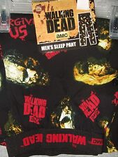 "NWT Mens XL 40-42"" The Walking Dead Zombie Faces Pajamas Lounge Sleep Pants PJS"