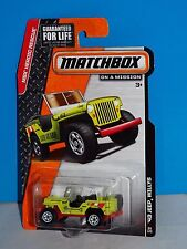 Matchbox 2014 Heroic Rescue Series #94 '43 Jeep Willys Flor Yellow-Green