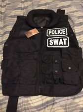 Police & Swat Tactical Vest with Pouches, Adjustable