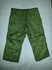NEW Men's Cold Weather Military Surplus Quilted Field Pants Liner Medium Long