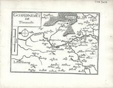 Antique maps, gouvernement de theonville