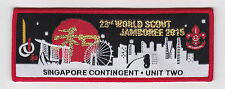 2015 World Scout Jamboree SINGAPORE SCOUTS UNIT TWO Contingent Strip Patch