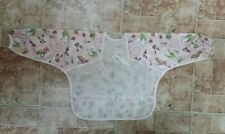Bumkins Waterproof Sleeved Bib Pink Bunny Ladybug NEW