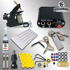 Complete Tattoo Kit needles Machine Guns Power Supply Color Inks MGT-18GD