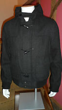 Medium Size Anthracite Zip & Toggle Front Hooded jacket by Baker & Brown