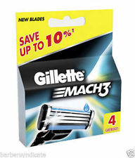 Gillette Mach 3 Pack Of 4 Cartridges Shaving Blades
