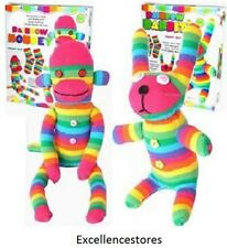 Craft Cupboard Make Your Own Rainbow Sock Monkey Children Craft Kit easy to make