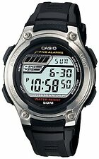Casio Men's Digital Day, Date, Month Resin Strap Quartz Stop Watch