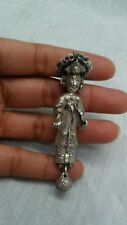 Antique Chinese silver figural lady  pin