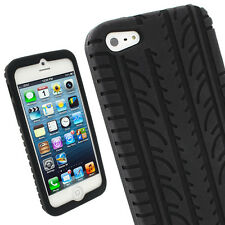 Black Silicone Tire Case Cover Skin for New Apple iPhone 5C Mobile Phone 4G LTE