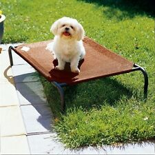 Coolaroo Steel Raised Bed Dog Cat Pet Cot Outdoor Elevated Medium Terracotta NEW