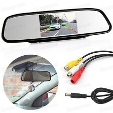 "4.3"" TFT Car LCD Screen Rear Monitor View Rearview Mirror DVD for Backup Camera"