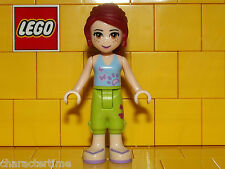 Lego Friends Mia With Lime Cropped Trousers & Light Blue Top Minifigure NEW