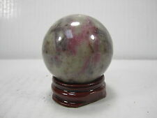 "WHOLESALE VERY RARE 1.63"" D. RUBY IN  QUARTZ SPHERE INDIA #15 - BEST PRICE!"