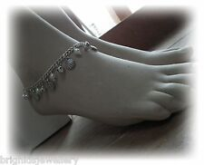 """With Silver Bells and Cockle Shells...."" Pagan Hippy Anklet Made to Order"