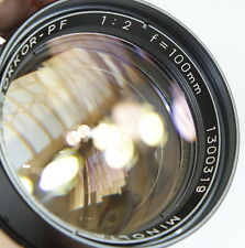 MINT- MINOLTA ROKKOR-PF 100mm f2 100/2 2.0 TELE LENS FOR MD SRT CAMERAS JAPAN
