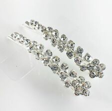 USA Bobby Pin Rhinestone Crystal Hair Clip Hairpin Jeweled Pretty Silver B33