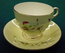 Old Royal Bone China, England, Erythronium Cup & Saucer Tiger Lily