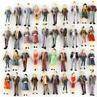 100Pcs 1:50 Scale O Gauge Hand Painted Layout Model Train People Figure