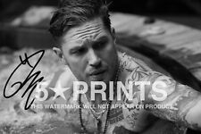 "SIGNED PP TOM HARDY POSTER PHOTO 12x8"" AUTOGRAPH PRINT BRITISH ACTOR STYLE A"