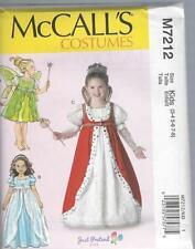 McCALL'S SEWING PATTERN CHILDREN'S / GIRLS' COSTUMES QUEEN  PRINCESS 3-8 7212
