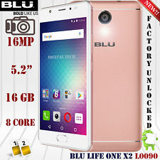 BLU Life One X2 L0090UU (16GB) LTE Android 16MP 2GB RAM Unlocked Phone Rose Gold