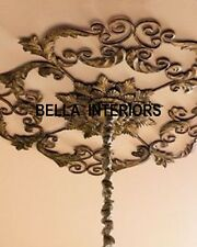 New Neiman Marcus Victorian Scroll Acanthus Iron Gold Ceiling Medallion Horchow
