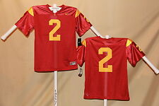USC TROJANS  Nike #2  FOOTBALL JERSEY  Youth Large  NWT  $50 retail   r