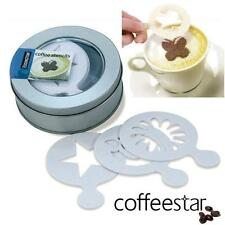 Gift Pack of 16 Coffee Stencils for Caffè Latte Cappuccino Macchiato New UK