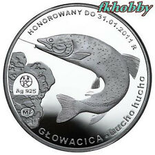 Polonia 2010 silver 100 Zlotych Huhen Fish Głowacica Fisch Poissons Pesce