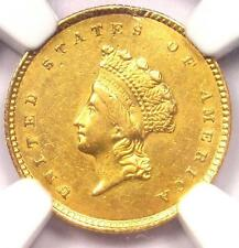 1854 Type 2 Indian Gold Dollar (G$1 Coin) - NGC AU Details - Rare Type!