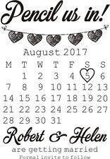 Sello De Goma Personalizado Save The Date boda ceremonia + Gratis Pad Negro