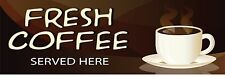 FRESH COFFEE PVC OUTDOOR BANNER 2FT X 6FT