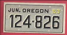 1953 TOPPS License Plate Trading Cards # 54 OREGON
