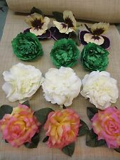 BEAUTIFUL LOT OF UNUSED VINTAGE FLOWERS  MILLINERY SUPPLIES  FLORAL CRAFTS c