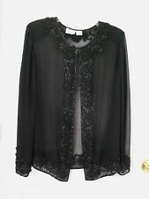 FASHION BUG:   Elegant Black Color Beaded Women's  Shirt . Size  18/20