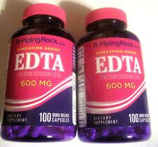 2 EDTA Chelation Calcium Disodium 600mg 200 Total Capsules Pills