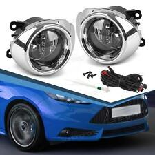 For 2012-2014 Ford Focus Clear Fog Lights Bumper Lamps+Switch+H11 Bulbs 2013
