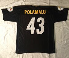 NFL Jersey Troy Polamalu 43 Pittsburg Steelers Jersey Adult Mens L - Iron On #43