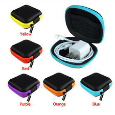 Hot Earphone Headphone Earbud SD Card Carrying Storage Bag Pouch Hard Case  LE