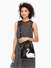 NWT Authentic Kate Spade On Pointe Swan Small Maise $298 Black Multi