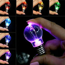 1 Pc Unisex Funny LED Light Lamp Key Chain Bulb Change Colors Key Ring