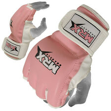 MMA Gloves Women Boxing Grappling Glove UFC Cage Fight Kickboxing Pink, Small