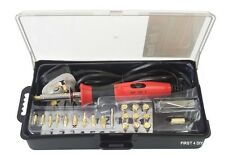 PRO 30W WOOD BURNING SOLDERING IRON GUN TOOL SET PYROGRAPHY BURNER BRASS & TIPS