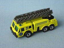 Matchbox Ladder Fire Engine Yellow Unit 21 Rescue Toy Model Truck