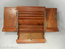 Antique Mahogany  Desktop Stationery Cabinet , Writing Box   ref 2380