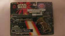 Star Wars Episode 1 Naboo Pistol With Water Blasting Action From Hasbro NEW t505