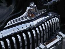 PHOTOGRAPH CLASSIC CAR AUTOMOBILE GRILL FENDER DETAIL CHROME POSTER BMP10454