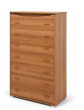 Settimino maxy in legno colore noce a 7 cassetti moderno