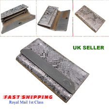 Ladies' Genuine Leather Wallet Purse Silver Bifold Cash Credit Card ID Organizer